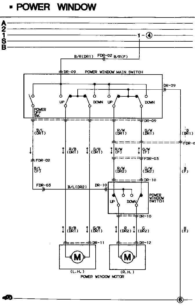 Wiring Diagram For Power Window Wiring Diagram