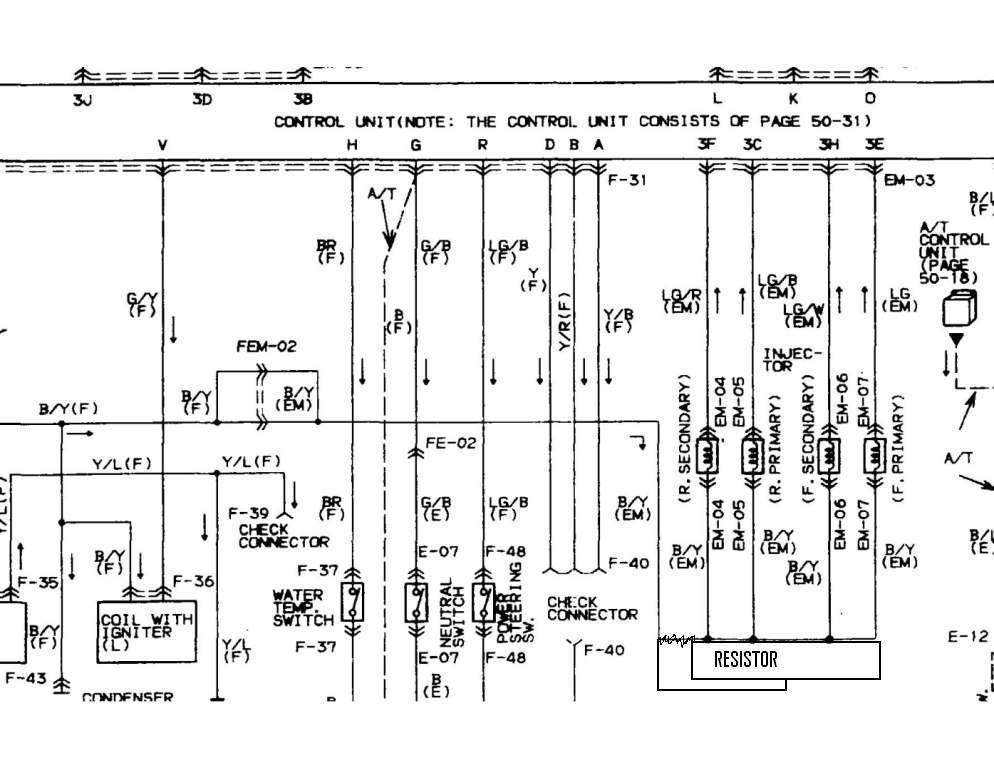 2001 mazda b2500 fuse diagram