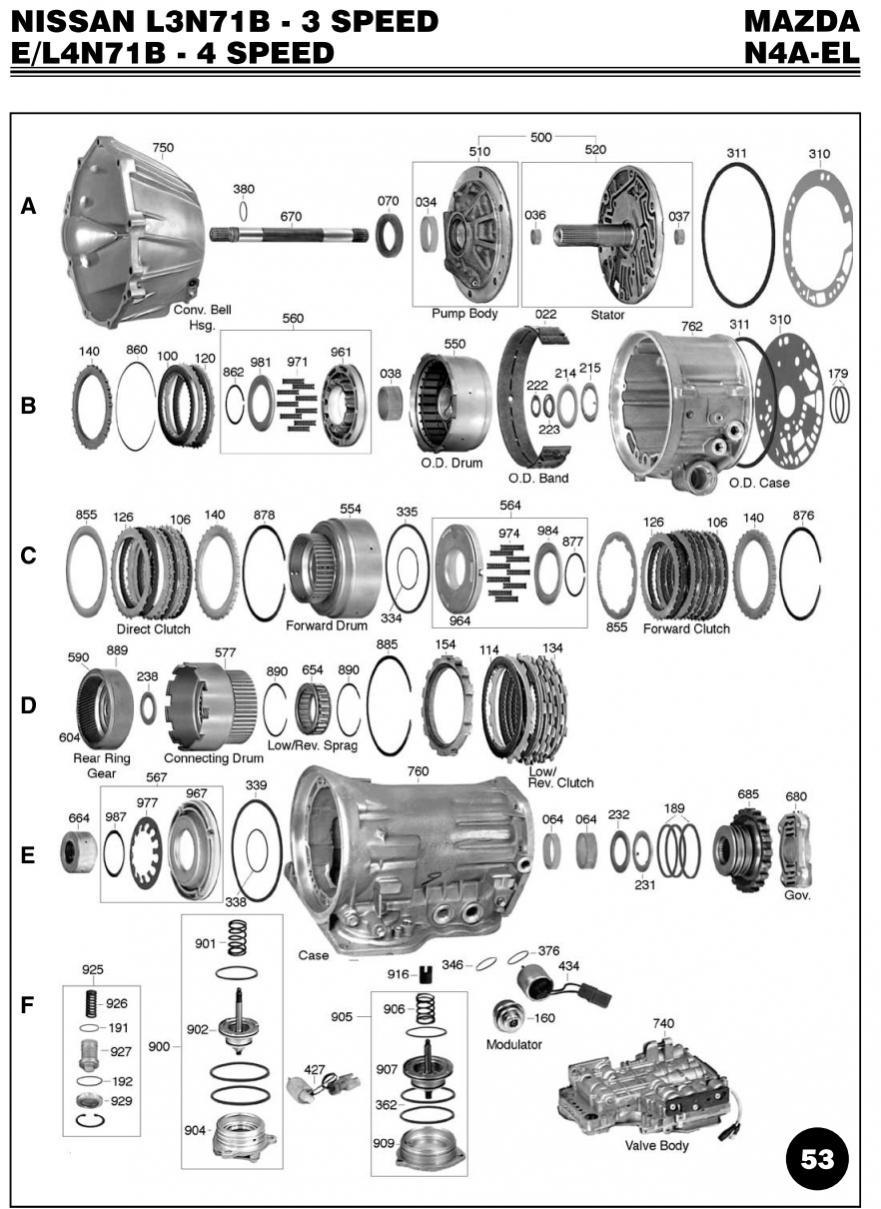 gm 4l60e automatic transmission diagrams