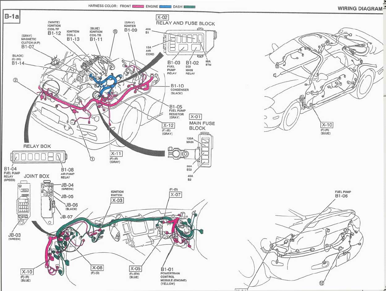Rx7 Fd Wiring Harness additionally Wiring diagram further T125 Refroidissement in addition Rx7 Fc Wiring Harness further 1 8t Vacuum Diagram. on fd3s wiring diagram