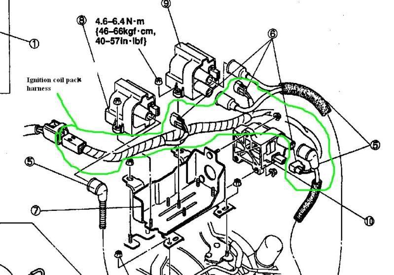 1993 mazda rx7 wiring harness