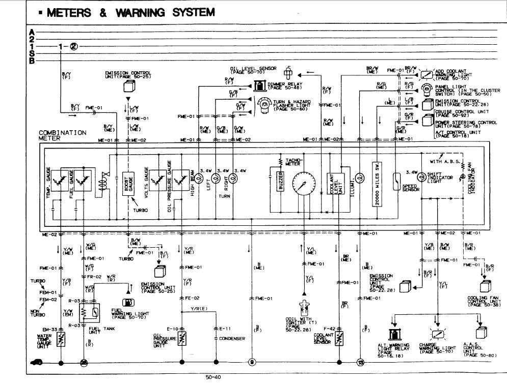 1987 mazda wiring hot