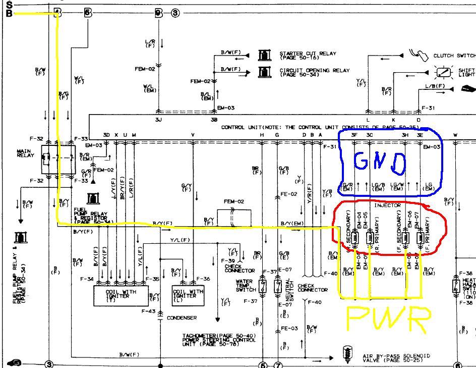 mazda rx 7 87 wiring schematic