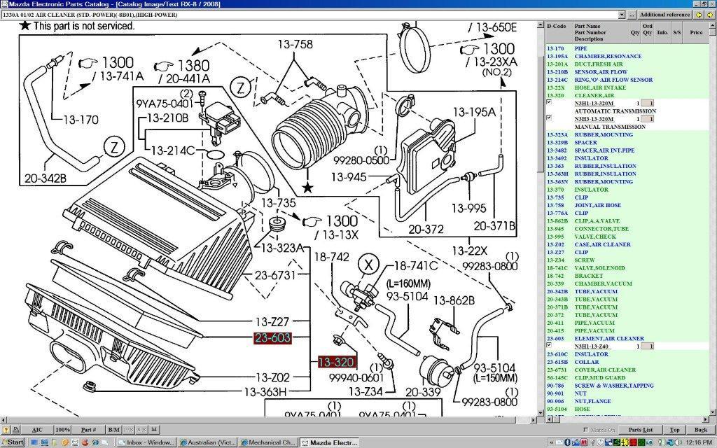 mazda rx 8 engine diagram