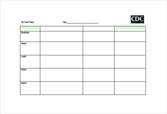 Free-Food-Log-Template-PDF-Document-Download-pdf-sheet-printable