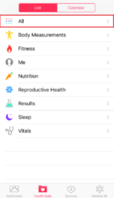 Apple HealthKit Export 1