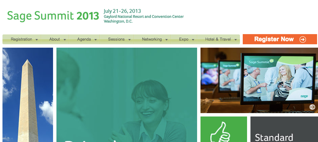 Sage Summit 2013 Kicks Off July 21, 2013 - Here's Our Contact Info