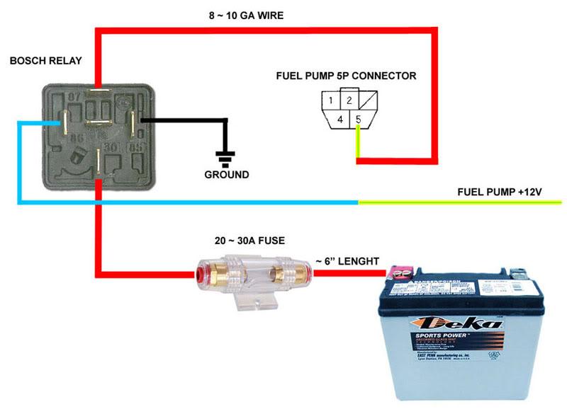 Relay Wiring Fuel Pump standard electrical wiring diagram