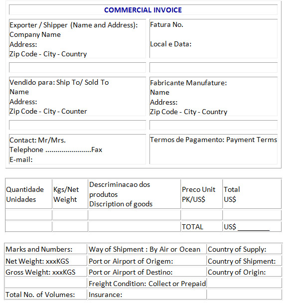 Proforma Invoice Muster | Free Downloadable Resume Templates
