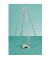 Premier 50cm Silver Metal Christmas Card Holder Christmas ...