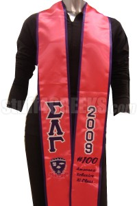 Custom Satin Graduation Stole - EMBROIDERED with Lifetime ...