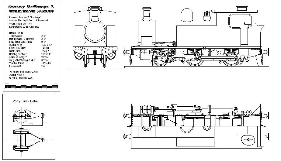 Steam Train Tank Locomotive - Barclay - Kitson - Peckett - Hawthorne