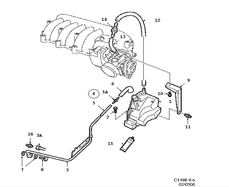 saab 93 vacuum diagram