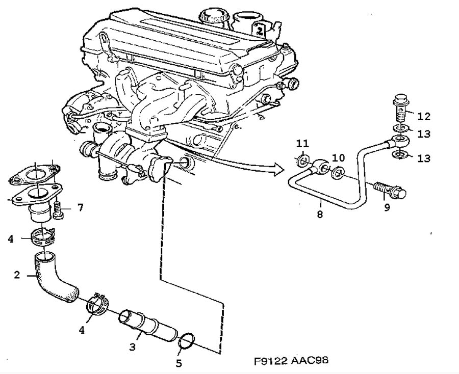 engine diagram likewise saab 2 3 turbo engine diagram on saab 900 se
