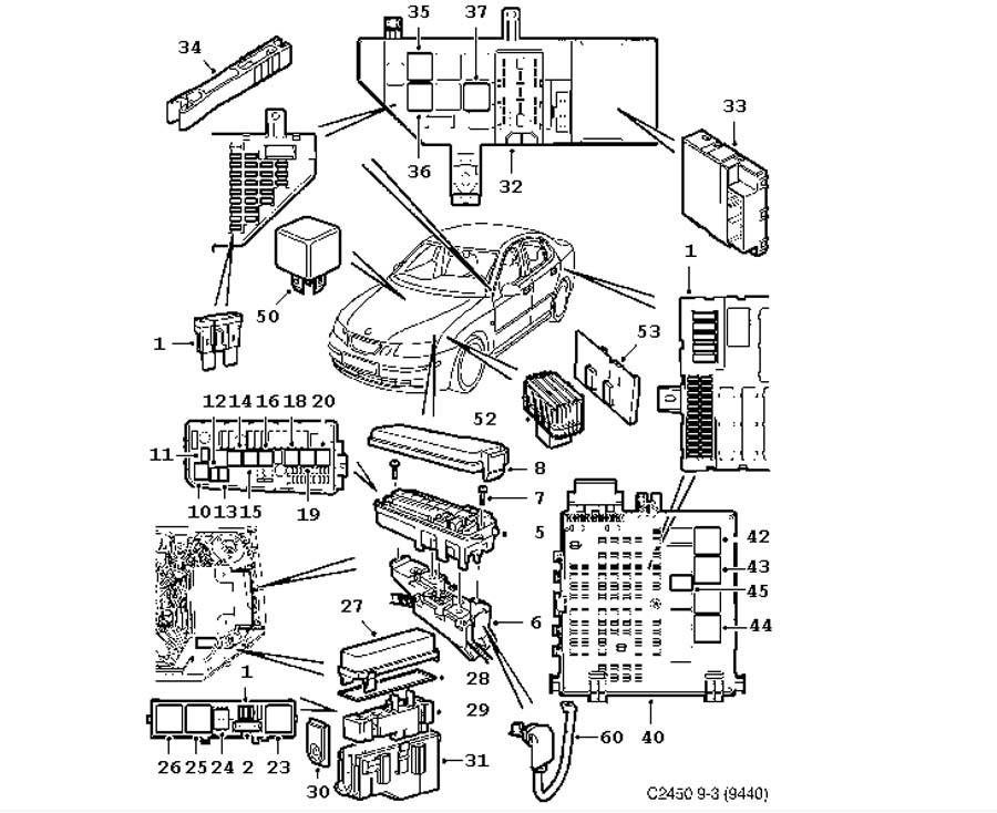 saab 900 convertible wiring