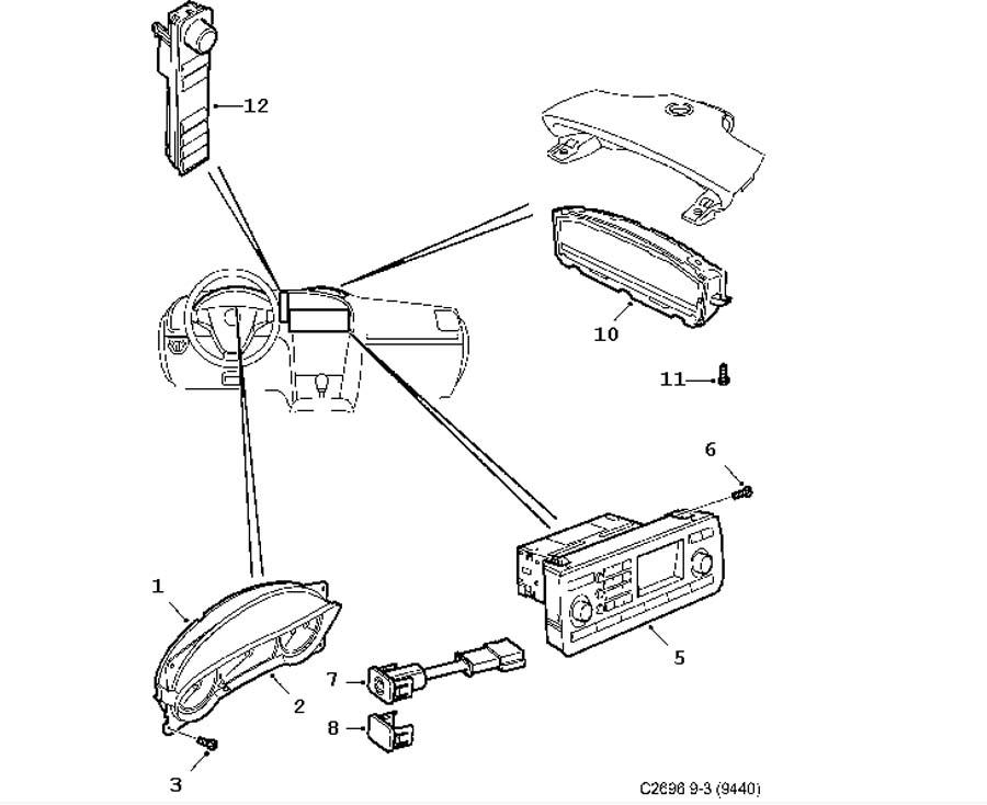 1998 saab 900 convertible wiring