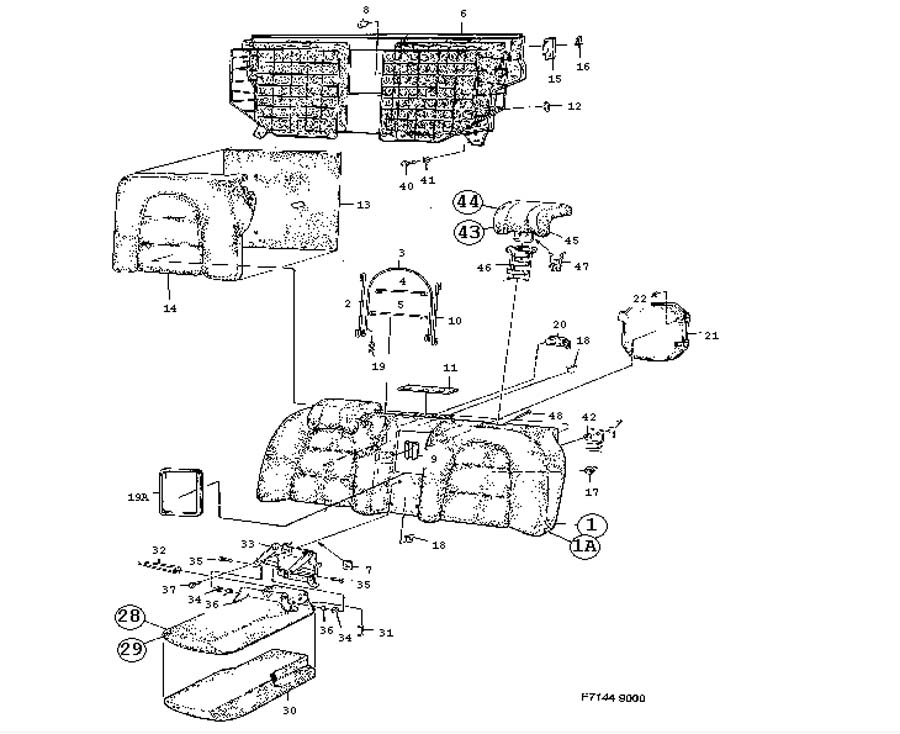 1992 saab 900 turbo Motor diagram