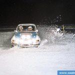 Orimattila-ralli 27.1.2001. Keskeytys VPK. Kiveen ajo.