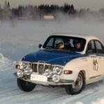 Rallin erikoisuus oli jääerikoiskoe, jolla Antti ajoi edellä lähteneen Escortin kiinni / Speciality in this rally was an Ice special stage, where Antti bypass the above left Ford Escort