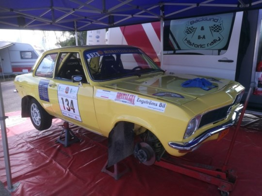 Kenneth Backlund, Saab Performance Team- pilot drove fast with his Opel Ascona A
