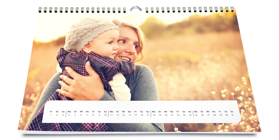 Your photo calendar in high-end quality of Saal Digital