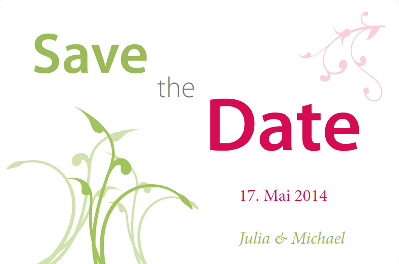 Design save-the-date cards for your wedding