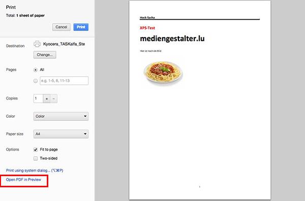 How to convert XPS to PDF (on a Mac)? \u2013 wwwmediengestalterlu