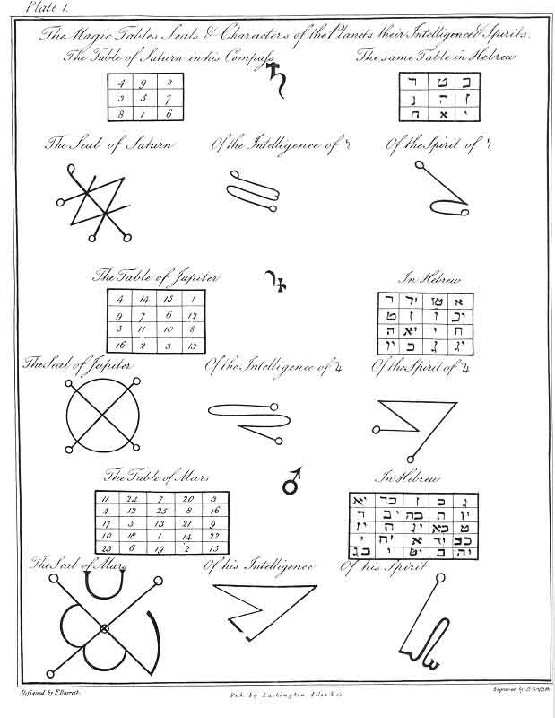 Planetary Spirit Magic Squares Divine Forms Pinterest - accounting cover letters
