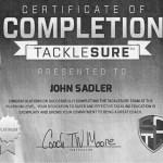 TackleSure Certificate