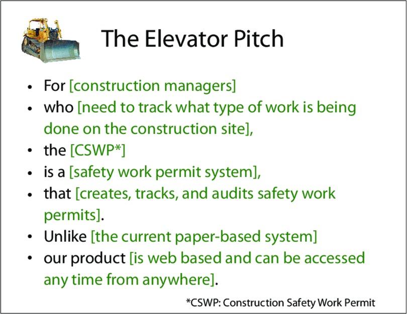 Create an Elevator Pitch - The Agile Samurai Book