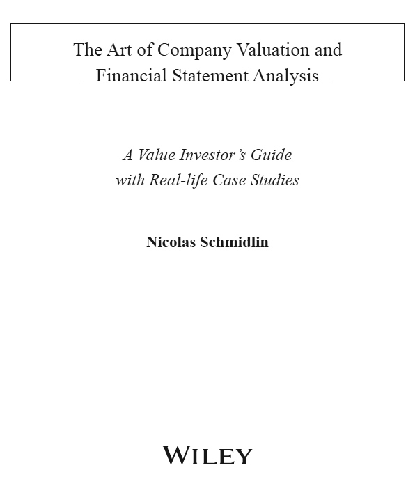 Title page - The Art of Company Valuation and Financial Statement - company analysis