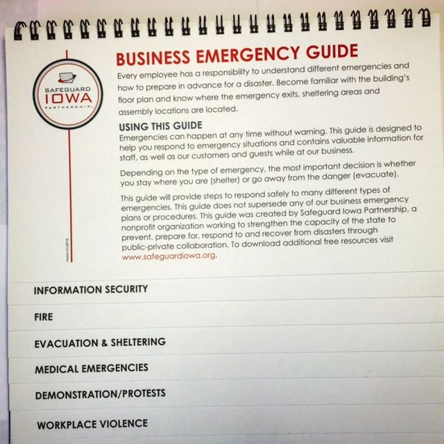 Safeguard Iowa Partnership - Business Emergency Guide - vaccine order form