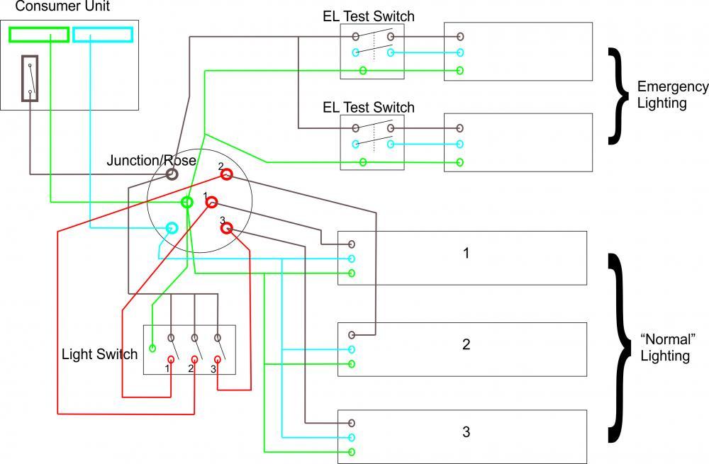 emergency lighting wiring diagram uk