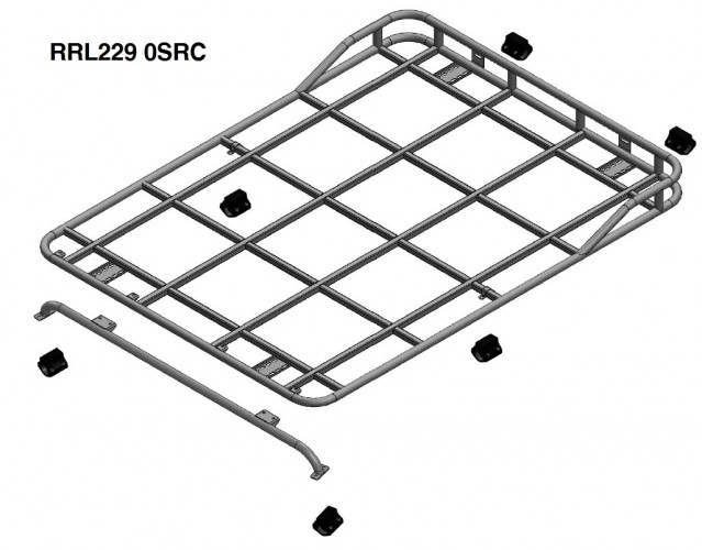 Land Rover Defender 90 Hard Top Roof Rack Roll Cage Mount