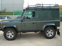 Land Rover Defender 90 Hard Top Roof Rack Gutter Mount ...