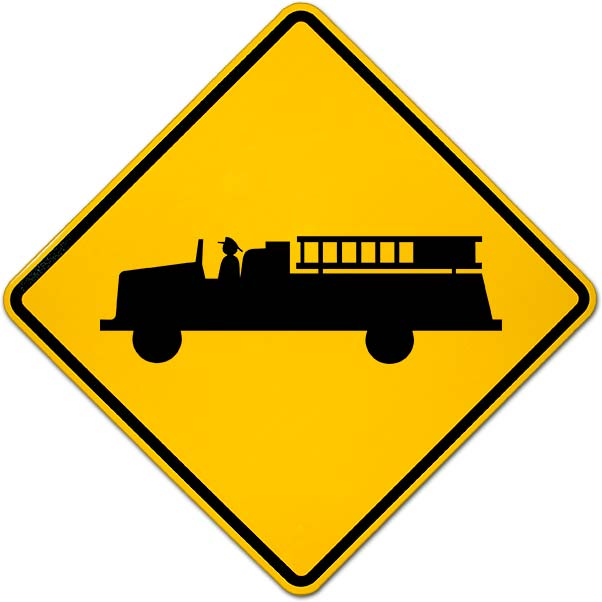 Emergency Vehicles Warning Sign Y2355 - by SafetySign