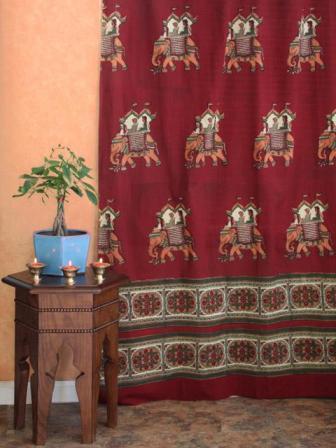 indian elephant fabric print