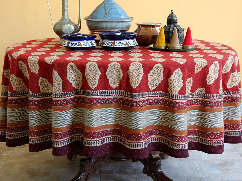 red orange tablecloth moroccan indian tablecloth holiday tablecloth cotton tablecloth