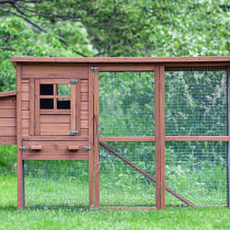 The Foursquare Chicken Coop with Run from the My Pet Chicken catalog.