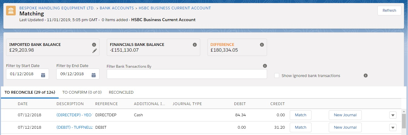 Bank Reconciliation - Sage Financials Knowhow