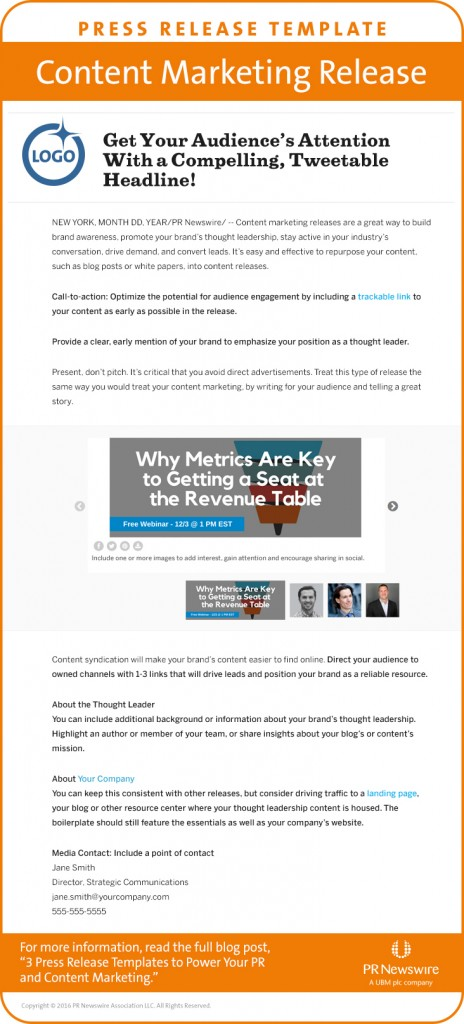 Pr Newswire Provides 3 Press Release Templates To Power Pr - press release template