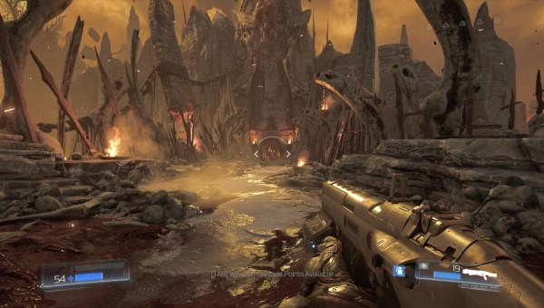 Doom gameplay screenshot