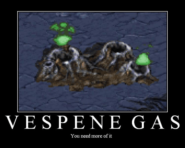 Vespene gas in StarCraft