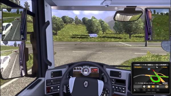 Screenshot of Euro Truck Simulator 2 game.