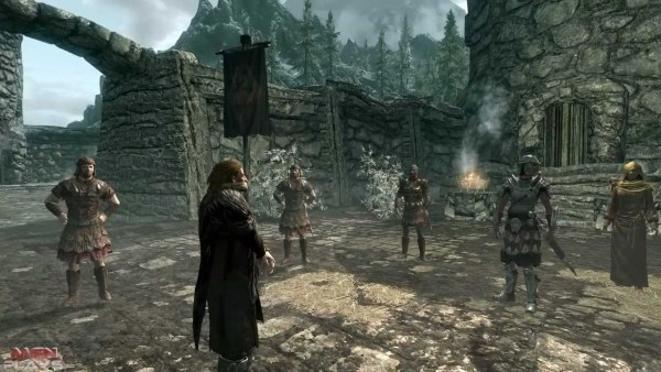 Screenshot from a New Game of Skyrim.