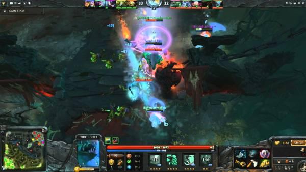 DOTA 2 clash screenshot.