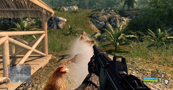 Chickens instead of bullets in Crysis