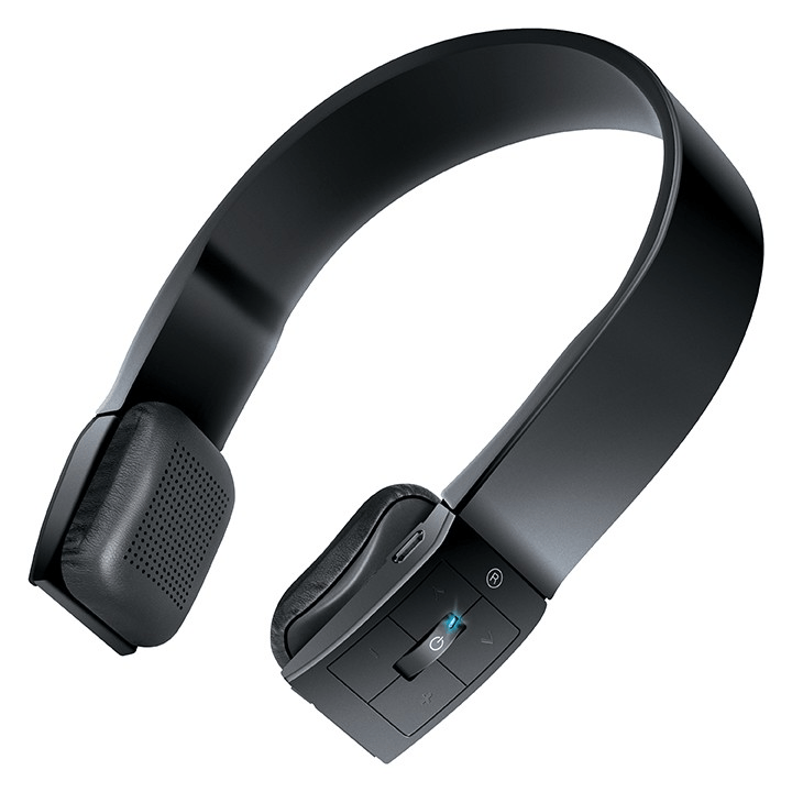 These slim, lightweight, wireless headphones are on trend with integrated volume and track control and a built-in microphone. They're sure to make an impression, particularly with a younger or more tech-oriented demographic.