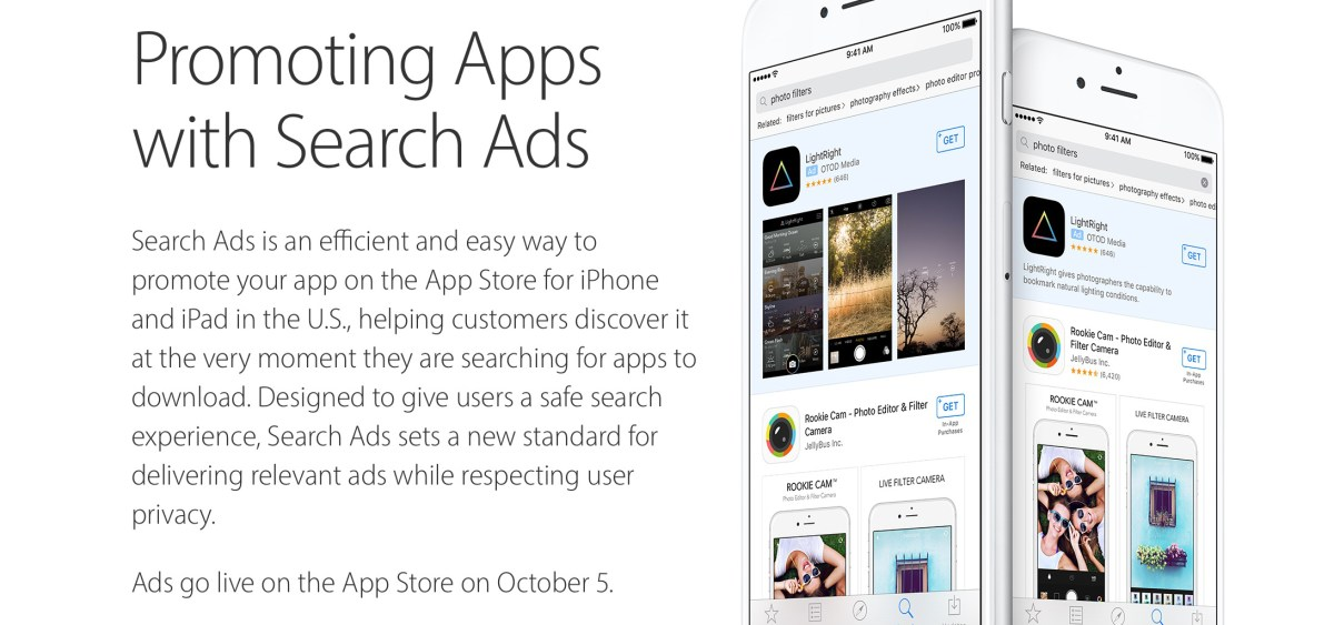 Apple lancia Search Ads, arrivano le app sponsorizzate su App Store