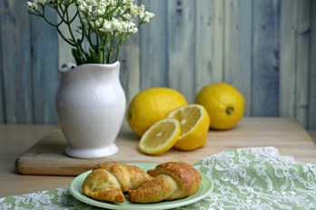 Christie's Lemon Crescent Rolls on Sahar's Blog